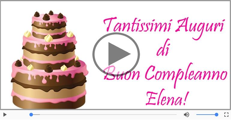 Cartoline musicali di compleanno - It's your birthday Elena ... Buon Compleanno!