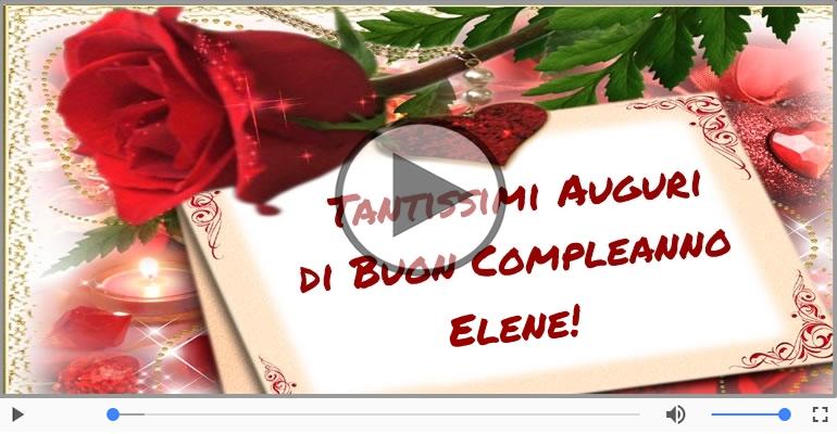 Cartoline musicali di compleanno - Happy Birthday Elene! Buon Compleanno Elene!