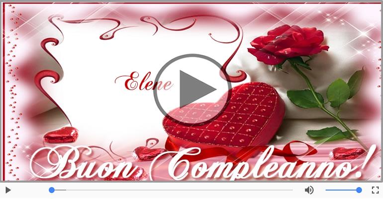 Cartoline musicali di compleanno - Tanti Auguri di Buon Compleanno Elene!