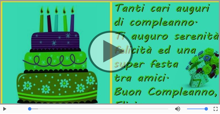 It's your birthday Eligio ... Buon Compleanno!