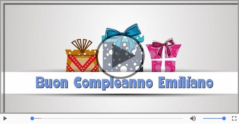 Cartoline musicali di compleanno - Tanti Auguri di Buon Compleanno Emiliano!