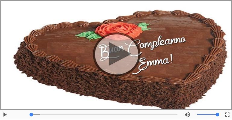 Cartoline musicali di compleanno - Tanti Auguri di Buon Compleanno Emma!