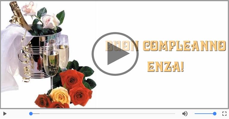 Cartoline musicali di compleanno - Tanti Auguri di Buon Compleanno Enza!