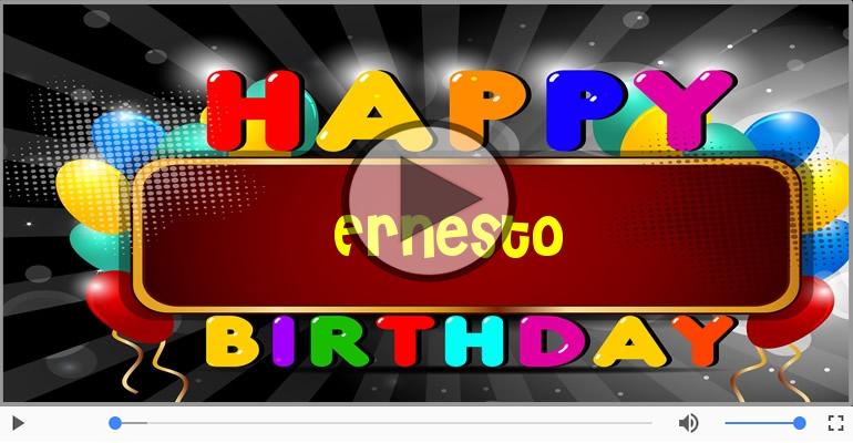 Eccezionale Cartoline musicali con il nome Ernesto | Compleanno  RX38