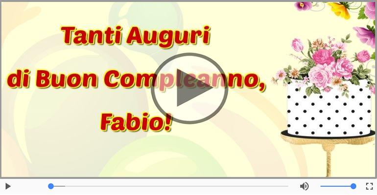 Cartoline musicali di compleanno - It's your birthday Fabio ... Buon Compleanno!