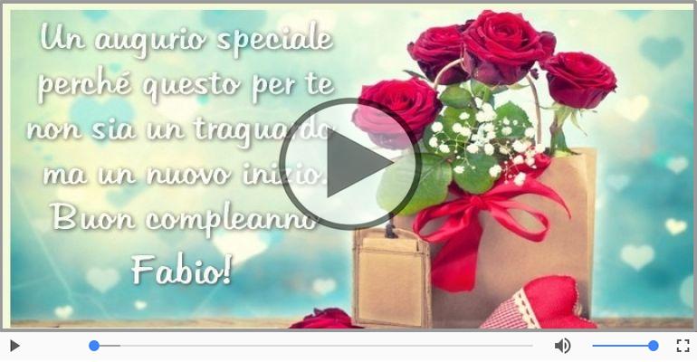 Cartoline musicali di compleanno - Buon Compleanno Fabio!