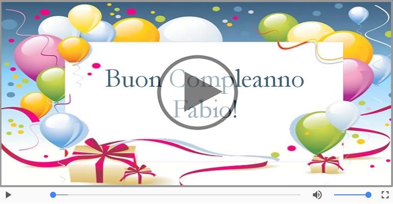 Cartoline musicali di compleanno - Tanti Auguri di Buon Compleanno Fabio!