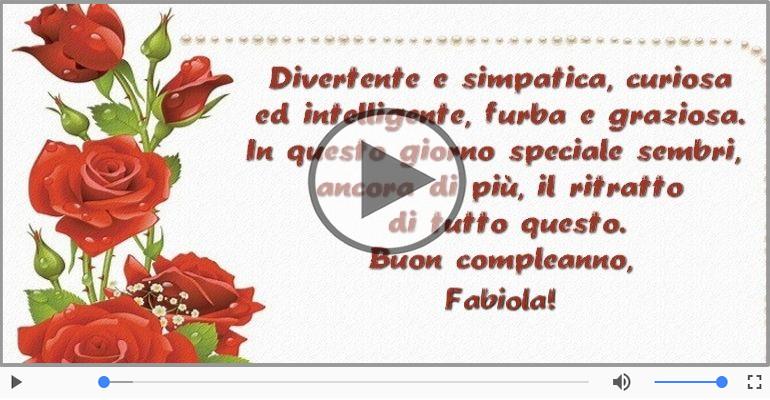 Cartoline musicali di compleanno - It's your birthday Fabiola ... Buon Compleanno!