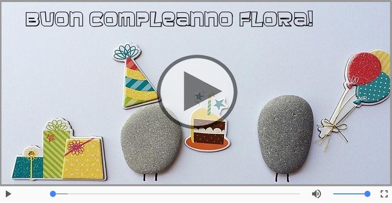 Cartoline musicali di compleanno - It's your birthday Flora ... Buon Compleanno!