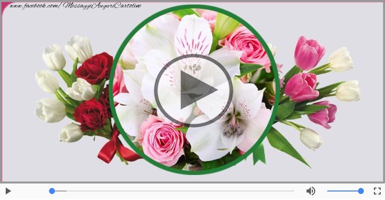 Cartoline musicali di compleanno - Tanti Auguri di Buon Compleanno Flora!