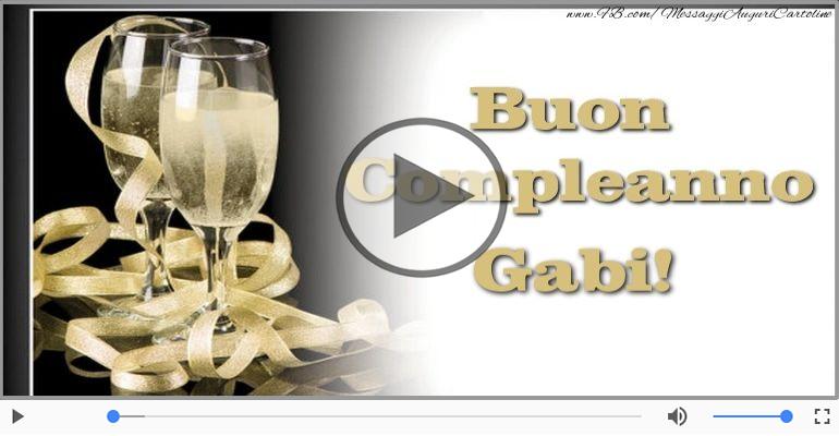 Cartoline musicali di compleanno - Happy Birthday Gabi! Buon Compleanno Gabi!