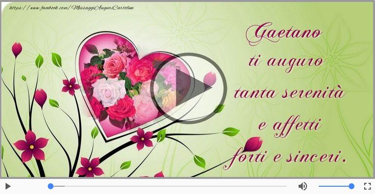 Cartoline musicali di compleanno - Happy Birthday Gaetano! Buon Compleanno Gaetano!