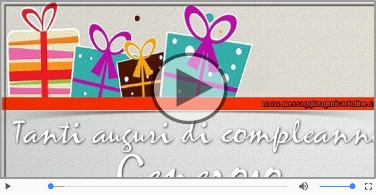 Cartoline musicali di compleanno - Happy Birthday Generoso! Buon Compleanno Generoso!