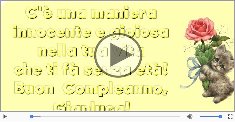 Cartoline musicali di compleanno - Buon Compleanno Gianluca!