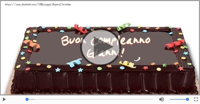 Cartoline musicali di compleanno - Tanti Auguri di Buon Compleanno Gianni!