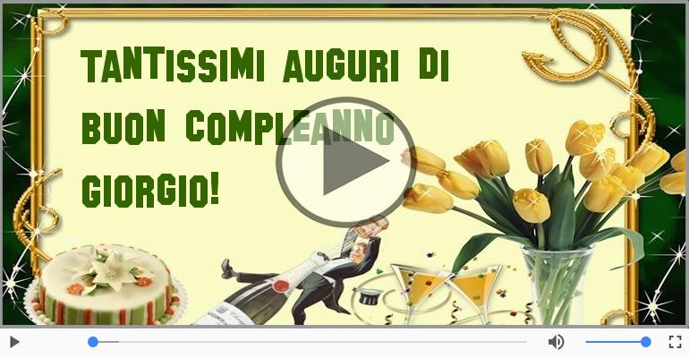 Cartoline musicali di compleanno - It's your birthday Giorgio ... Buon Compleanno!