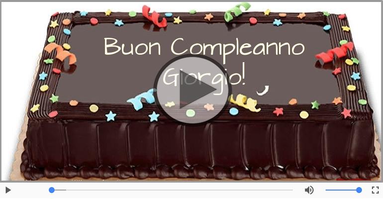 Cartoline musicali di compleanno - Happy Birthday Giorgio! Buon Compleanno Giorgio!