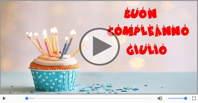 Cartoline musicali di compleanno - Buon Compleanno Giulio!