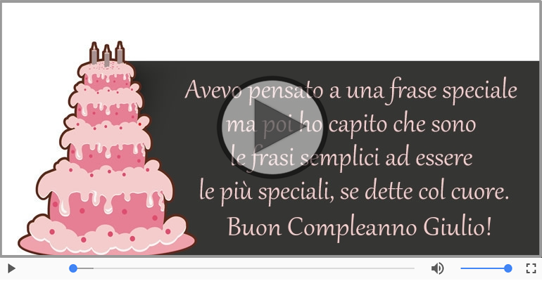 Cartoline musicali di compleanno - Happy Birthday Giulio! Buon Compleanno Giulio!
