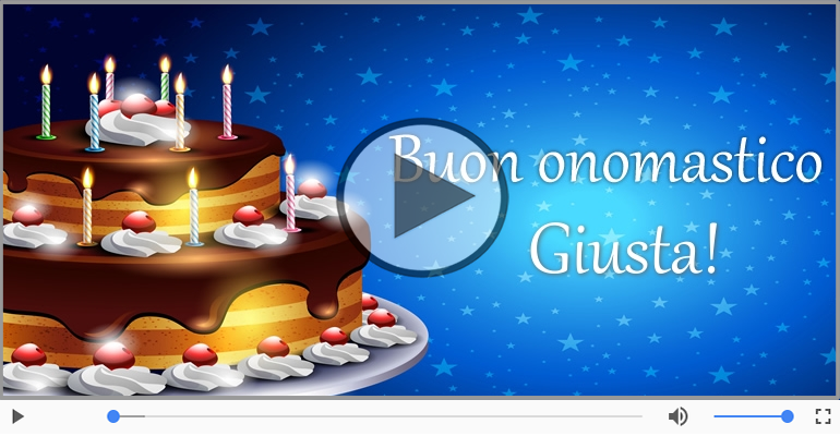 Cartoline musicali di compleanno - Buon Compleanno Giusta!