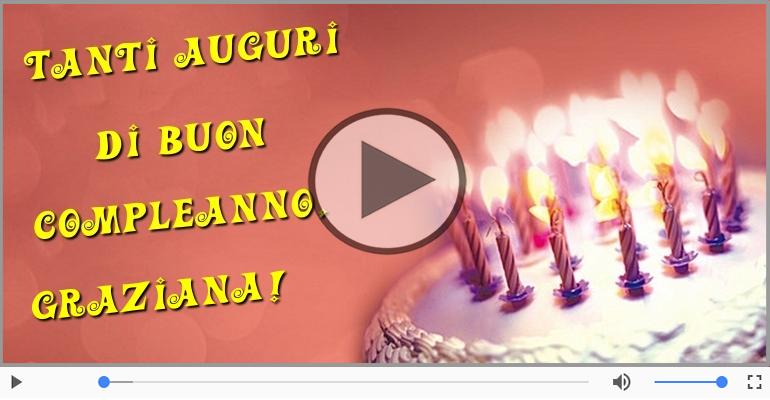 Cartoline musicali di compleanno - Buon Compleanno Graziana!