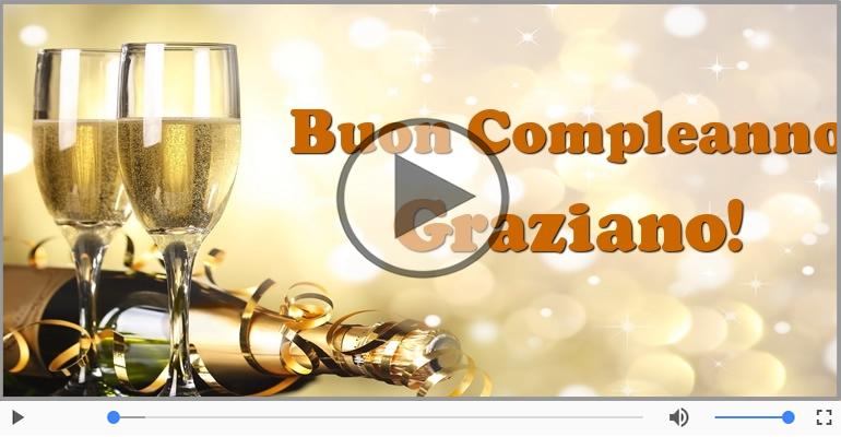 Cartoline musicali di compleanno - Happy Birthday Graziano! Buon Compleanno Graziano!