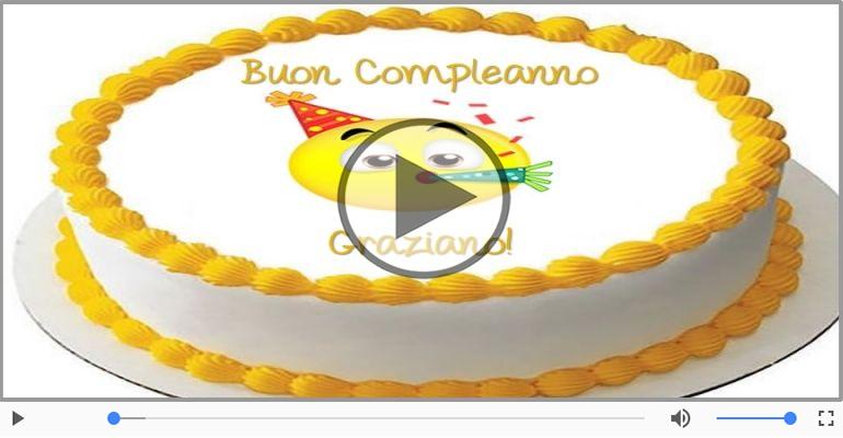 Cartoline musicali di compleanno - Tanti Auguri di Buon Compleanno Graziano!