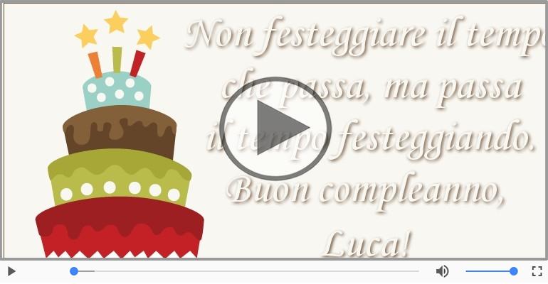 Cartoline musicali di compleanno - Buon Compleanno Luca!