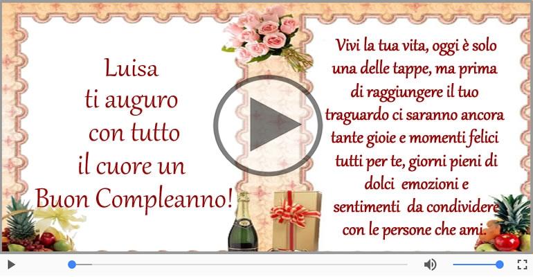 Cartoline musicali di compleanno - It's your birthday Luisa ... Buon Compleanno!