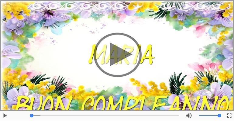 Eccezionale Cartoline musicali con il nome Maria   Compleanno  IE21