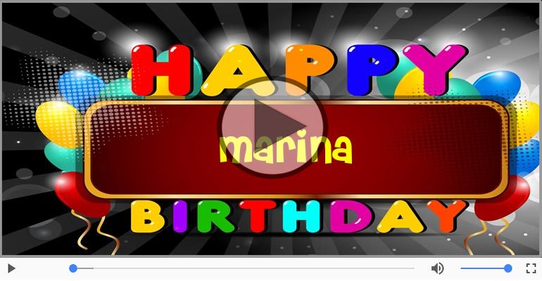 Cartoline musicali di compleanno - Buon Compleanno Marina!