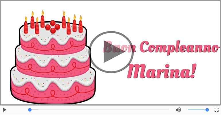 Cartoline musicali di compleanno - Tanti Auguri di Buon Compleanno Marina!