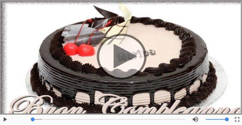 Cartoline musicali di compleanno - Happy Birthday Marina! Buon Compleanno Marina!