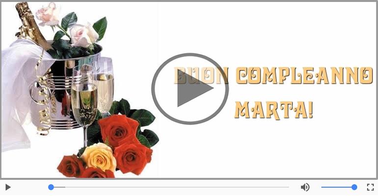 Cartoline musicali di compleanno - Buon Compleanno Marta!
