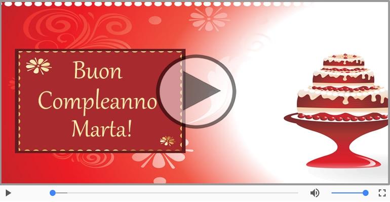 Cartoline musicali di compleanno - Happy Birthday Marta! Buon Compleanno Marta!