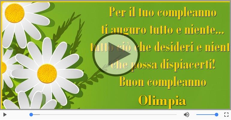 Cartoline musicali di compleanno - It's your birthday Olimpia ... Buon Compleanno!