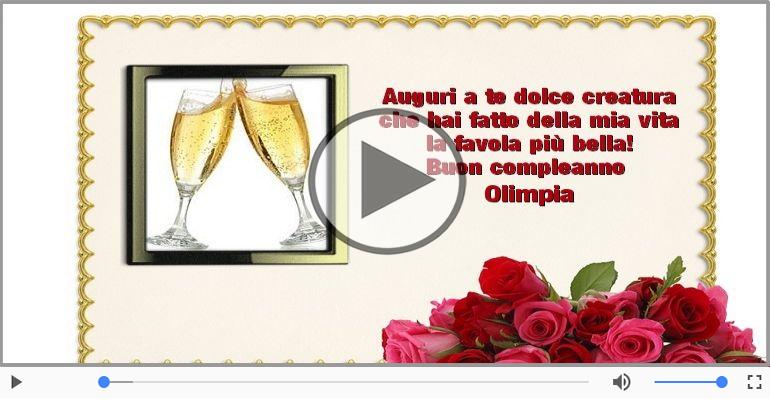 Cartoline musicali di compleanno - Tanti Auguri di Buon Compleanno Olimpia!