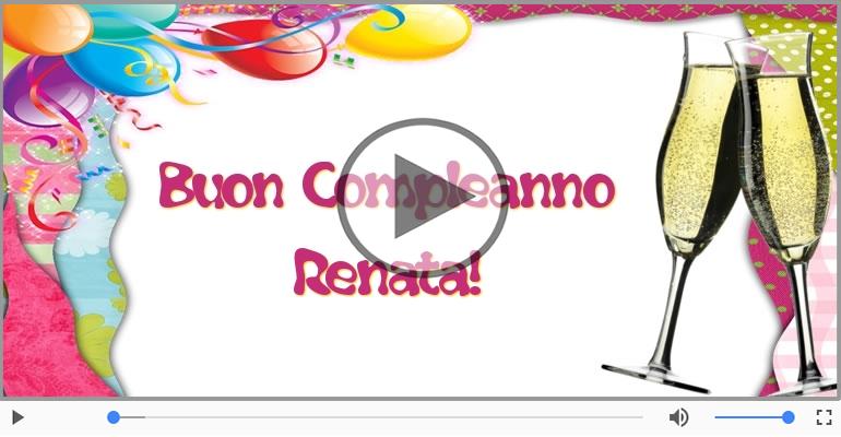 Cartoline musicali di compleanno - It's your birthday Renata ... Buon Compleanno!