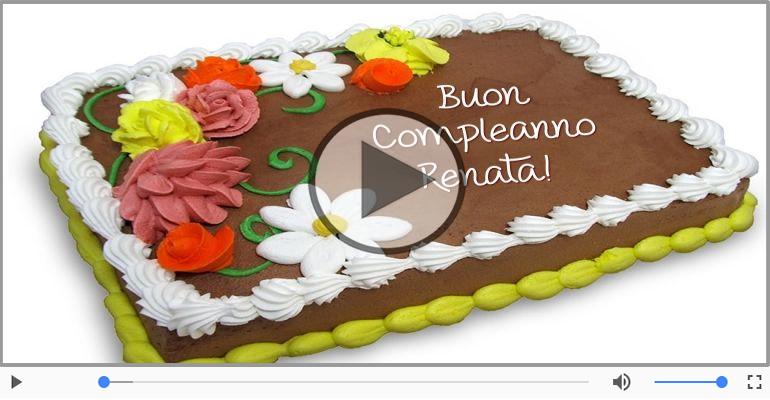 Cartoline musicali di compleanno - Happy Birthday Renata! Buon Compleanno Renata!