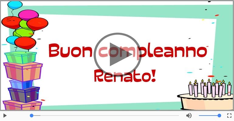 Cartoline musicali di compleanno - Happy Birthday Renato! Buon Compleanno Renato!