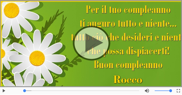 Cartoline musicali di compleanno - Buon Compleanno Rocco!