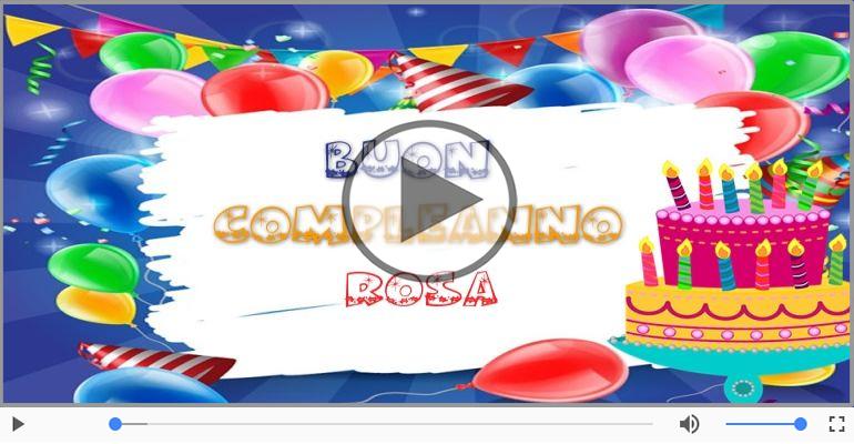 Favoloso Tanti Auguri di Buon Compleanno Rosa! | Buon compleanno  IR92