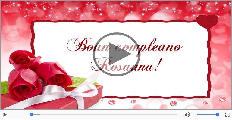 Cartoline musicali di compleanno - It's your birthday Rosanna ... Buon Compleanno!