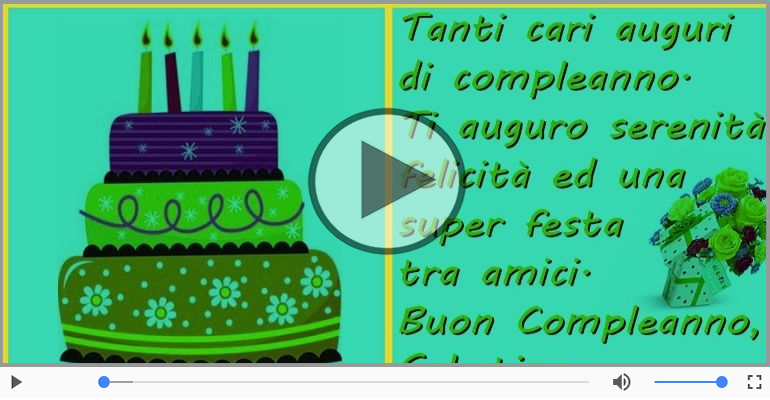 Cartoline musicali di compleanno - Happy Birthday Sabatino! Buon Compleanno Sabatino!