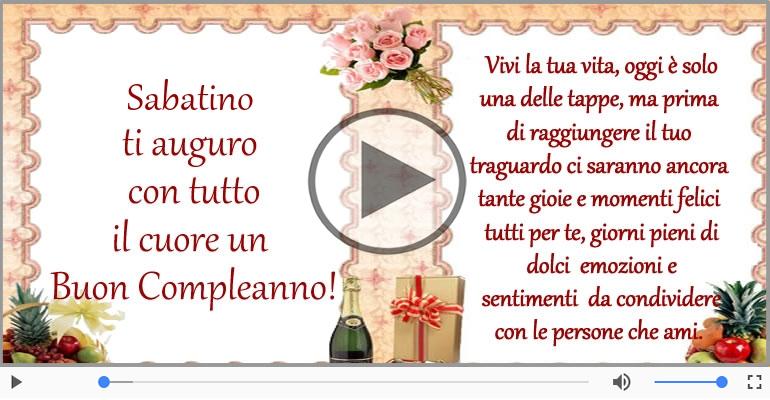 Cartoline musicali di compleanno - It's your birthday Sabatino ... Buon Compleanno!