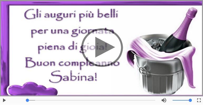 Cartoline musicali di compleanno - It's your birthday Sabina ... Buon Compleanno!