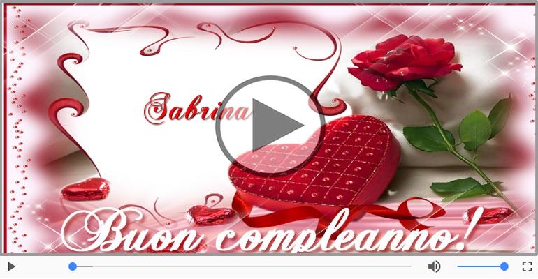 Cartoline musicali di compleanno - Happy Birthday Sabrina! Buon Compleanno Sabrina!