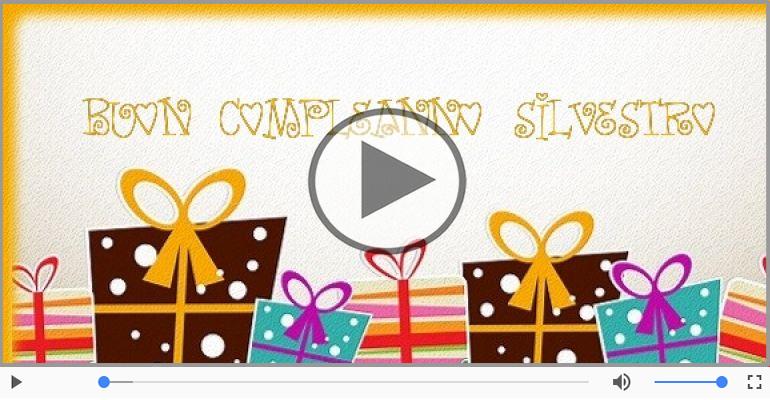Cartoline musicali di compleanno - Happy Birthday Silvestro! Buon Compleanno Silvestro!