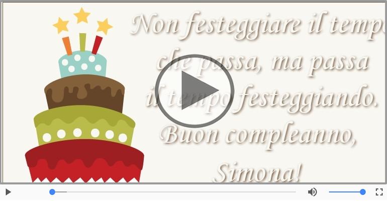 Cartoline musicali di compleanno - It's your birthday Simona ... Buon Compleanno!