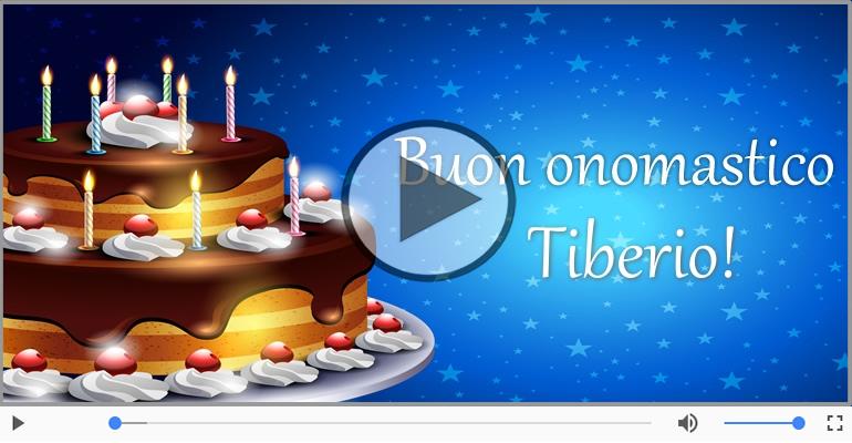 Cartoline musicali di compleanno - Tanti Auguri di Buon Compleanno Tiberio!